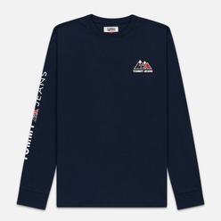 Мужской лонгслив Tommy Jeans USA Mountain Logo Relaxed Fit Black Iris