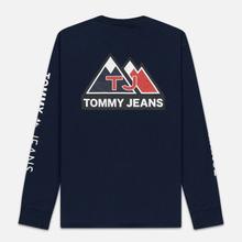 Мужской лонгслив Tommy Jeans USA Mountain Logo Relaxed Fit Black Iris фото- 5