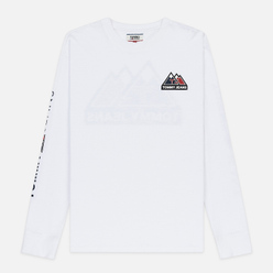 Мужской лонгслив Tommy Jeans USA Mountain Logo Relaxed Fit Classic White