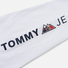 Мужской лонгслив Tommy Jeans USA Mountain Logo Relaxed Fit Classic White фото- 3