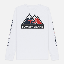 Мужской лонгслив Tommy Jeans USA Mountain Logo Relaxed Fit Classic White фото- 5
