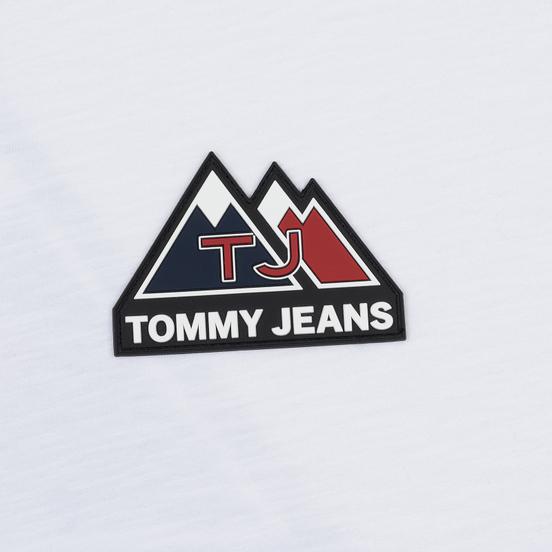 Мужской лонгслив Tommy Jeans USA Mountain Logo Relaxed Fit Classic White