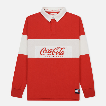 Мужской лонгслив Tommy Jeans x Coca-Cola Rugby Red