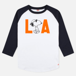 TSPTR Snoopy LA Raglan Royal Men's Longsleeve White photo- 0