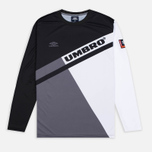 Мужской лонгслив Umbro Pro Training Spartak LS Black/Grey/White фото- 0