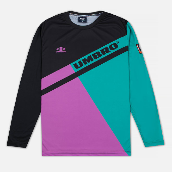 Мужской лонгслив Umbro Pro Training Spartak LS Black/Purple/Green