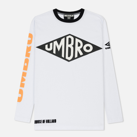 Мужской лонгслив Umbro x House Of Holland Branded White