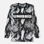 Мужской лонгслив Umbro x House Of Holland Snake LS Football Top Black/White фото- 0