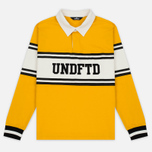 Мужской лонгслив Undefeated Rugby LS Yellow/White фото- 0