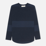 Мужской лонгслив Universal Works Pocket Navy Stripe фото- 0