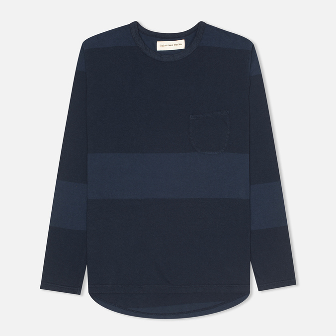 Мужской лонгслив Universal Works Pocket Navy Stripe