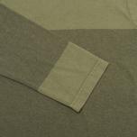 Мужской лонгслив Universal Works Pocket Olive Stripe фото- 3