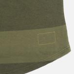 Мужской лонгслив Universal Works Pocket Olive Stripe фото- 2