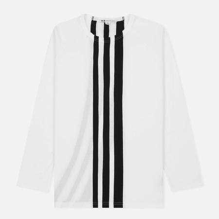 Мужской лонгслив Y-3 3-Stripes LS White/Black