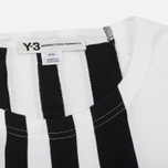 Мужской лонгслив Y-3 3-Stripes LS White/Black фото- 1