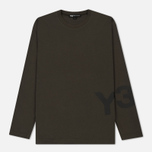 Мужской лонгслив Y-3 Classic Ribbed Crew Neck Dark Green фото- 0