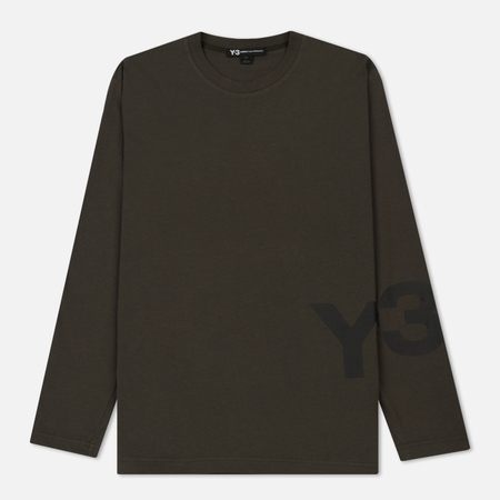 Мужской лонгслив Y-3 Classic Ribbed Crew Neck Dark Green