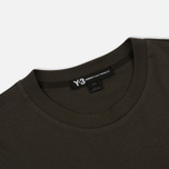 Мужской лонгслив Y-3 Classic Ribbed Crew Neck Dark Green фото- 1