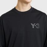 Мужской лонгслив Y-3 Double Logo Black фото- 2