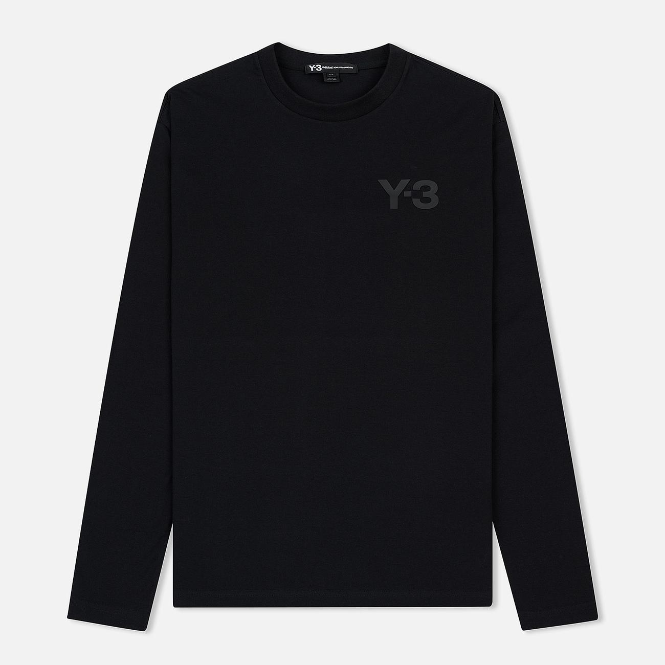 Мужской лонгслив Y-3 Double Logo Black