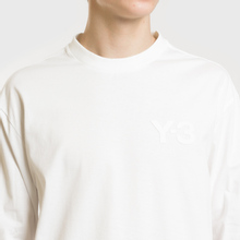 Мужской лонгслив Y-3 Double Logo Core White фото- 2
