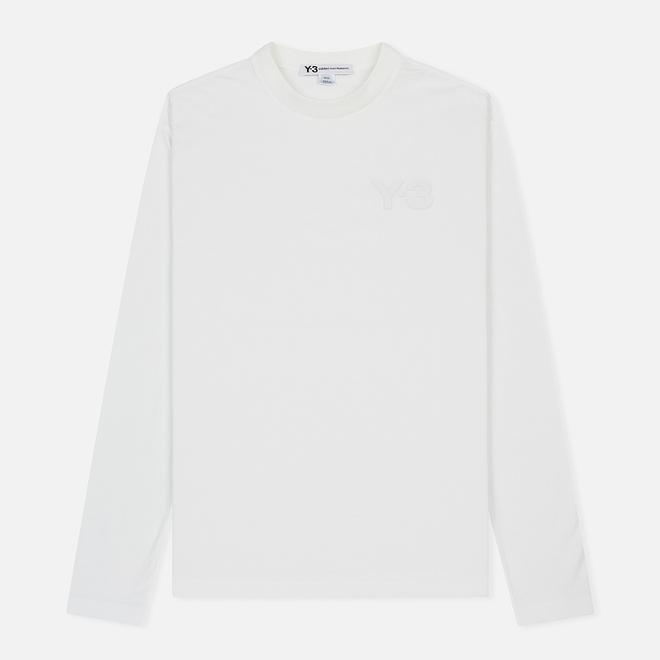 Мужской лонгслив Y-3 Double Logo Core White