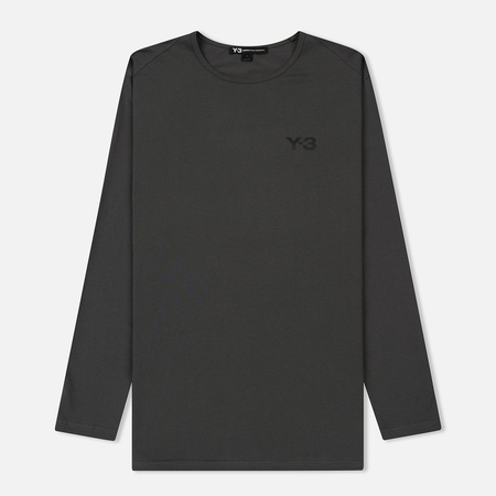 Мужской лонгслив Y-3 Logo Front And Graphic Back Solid Grey