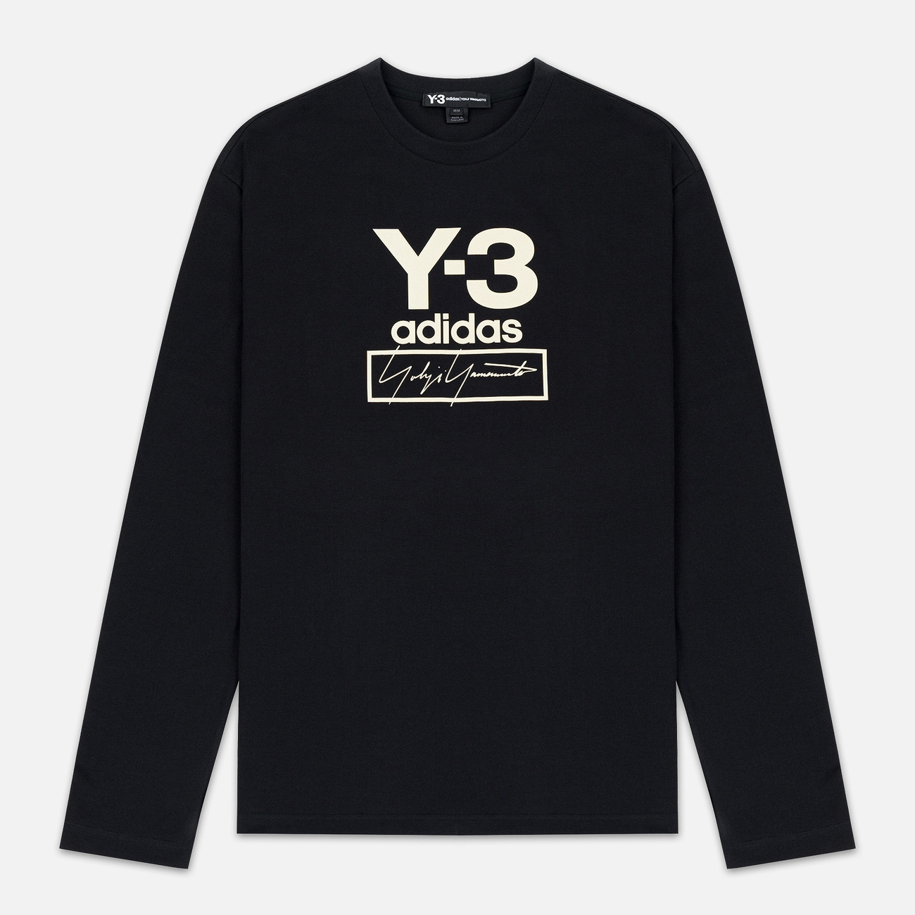 Мужской лонгслив Y-3 Stacked Logo FW19 Black