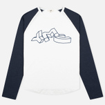 Мужской лонгслив YMC Block Baseball Navy/White фото- 0