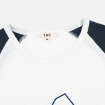 Мужской лонгслив YMC Block Baseball Navy/White фото- 1