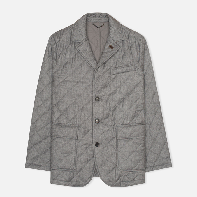Мужской пиджак Aquascutum Steele Quilted Flannel Grey
