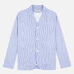 Edwin Prime French Striped Seersucker Men`s Blazer Navy/White photo- 0