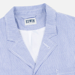 Edwin Prime French Striped Seersucker Men`s Blazer Navy/White photo- 2