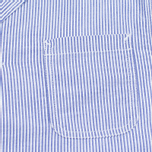 Edwin Prime French Striped Seersucker Men`s Blazer Navy/White photo- 3