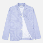 Edwin Prime French Striped Seersucker Men`s Blazer Navy/White photo- 1