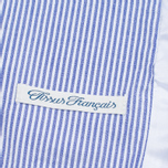 Edwin Prime French Striped Seersucker Men`s Blazer Navy/White photo- 6