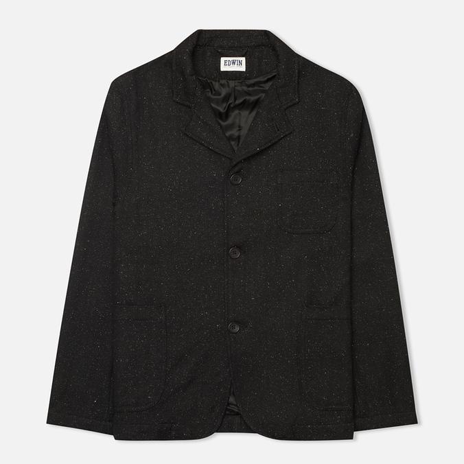 Мужской пиджак Edwin Prime Herringbone Wooly Black