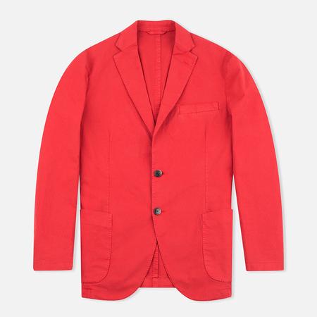 Hackett Gmd Textured Cotton Men`s Blazer Red