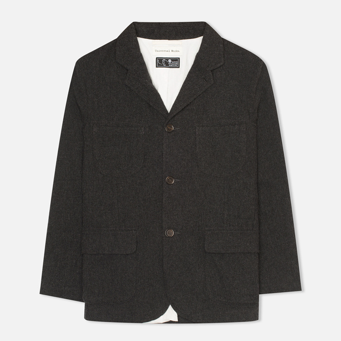 Мужской пиджак Universal Works Barra Charcoal