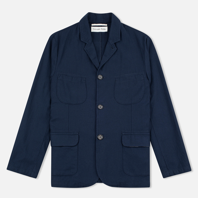 Мужской пиджак Universal Works Barra Panama Cotton Navy