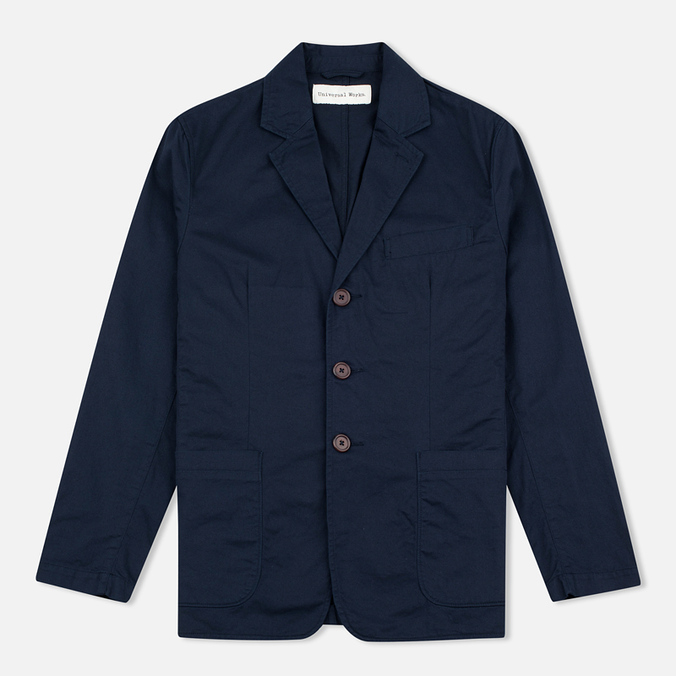 Universal Works London Twill Men`s Blazer Navy