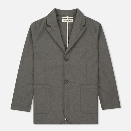 Мужской пиджак Universal Works Peak Lapel Texture Cotton Grey