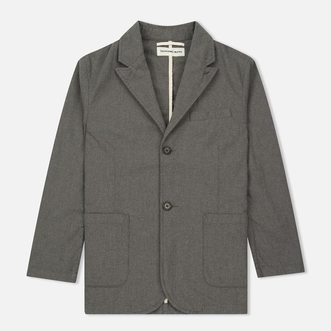 Мужской пиджак Universal Works Peak Lapel Texture Cotton Grey