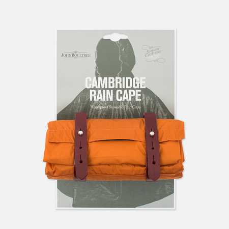 Мужской плащ дождевик Brooks England Cambridge Raincape Orange