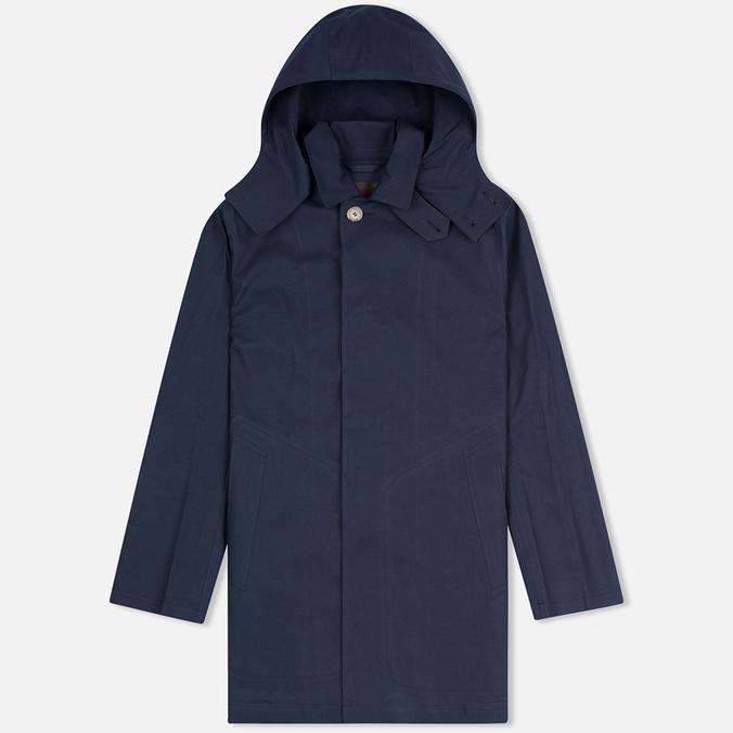 Mackintosh Dunoon Hood Men`s Coat Navy