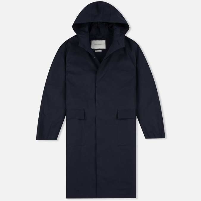 Мужской плащ Mackintosh GR-019 Split Raglan Sleeve Hooded Navy