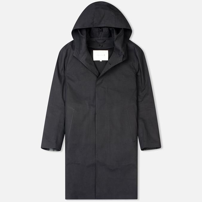 Мужской плащ Mackintosh Rubberised Cotton Hooded Black