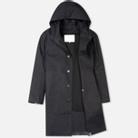 Мужской плащ Mackintosh Rubberised Cotton Hooded Black фото- 1