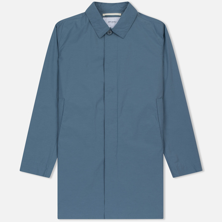 Мужской плащ Norse Projects Thor Crisp Cotton Marginal Blue