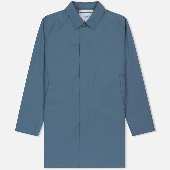 Мужской плащ Norse Projects Thor Crisp Cotton Marginal Blue